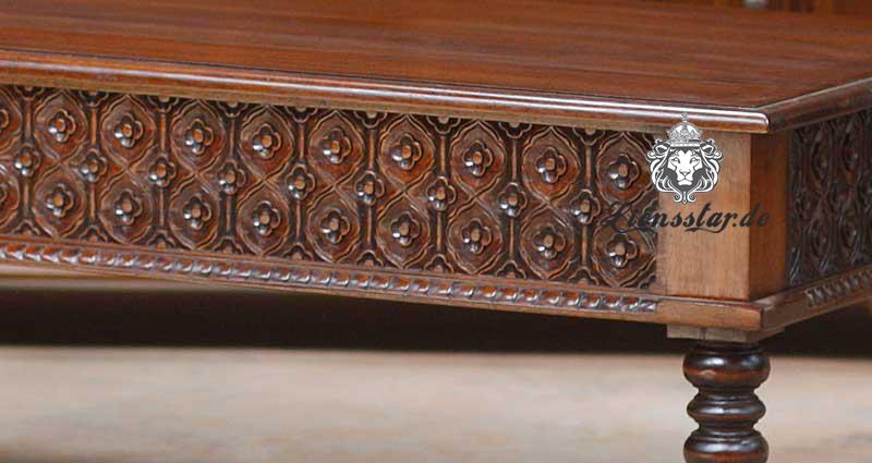 Massivholz Couchtisch Teetisch Mahagony Chippendale Luxus