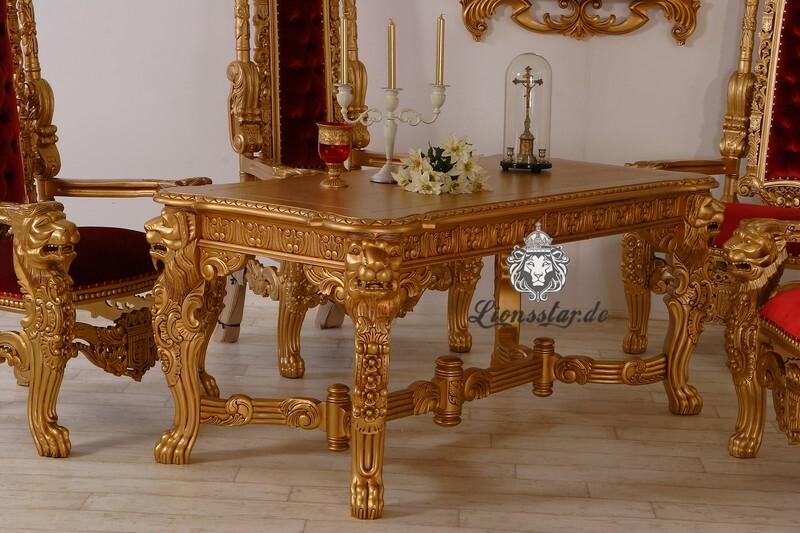 Esstisch Löwe-Gold