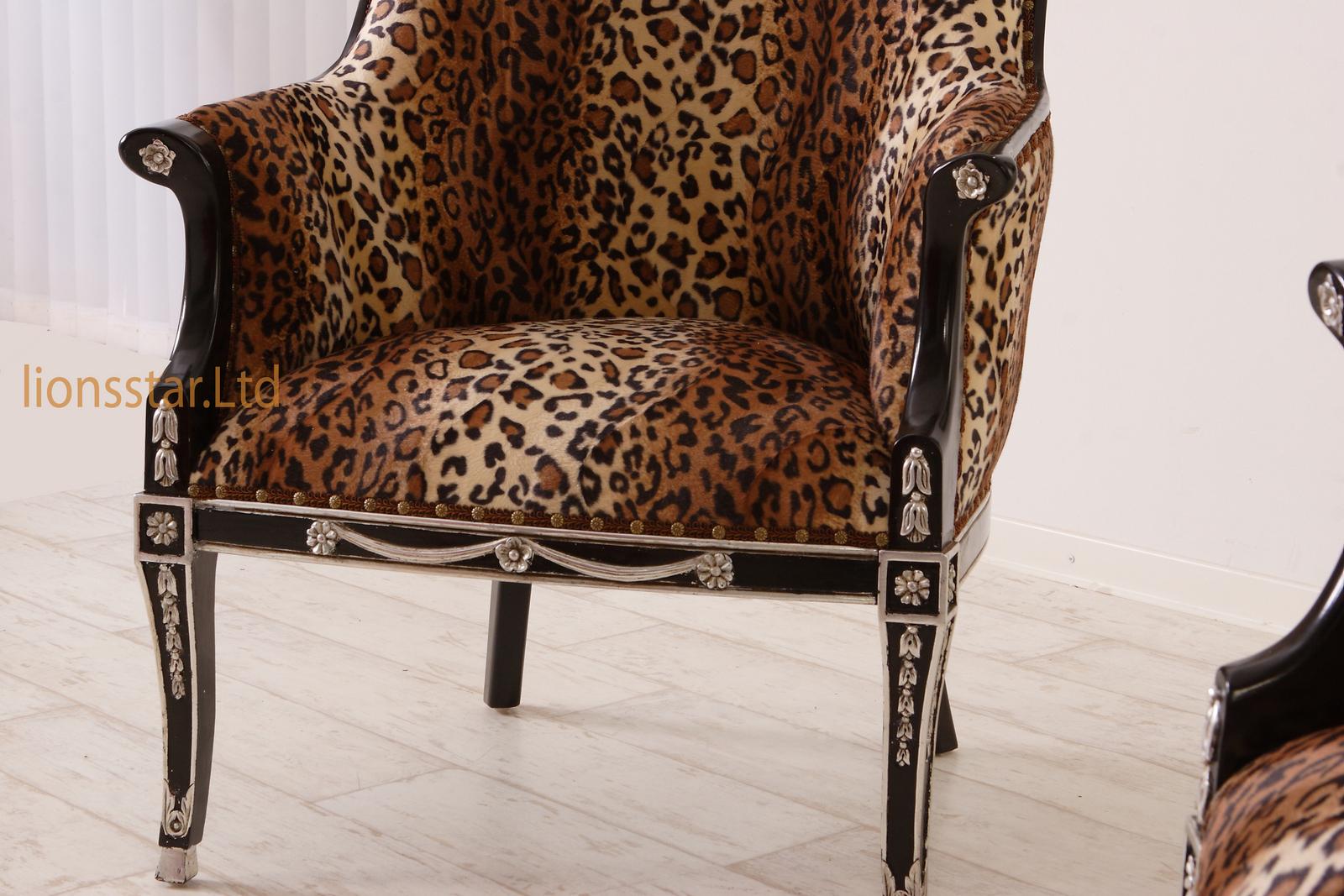 Luxus Sessel Exquisit Louis Mahagoni Leo