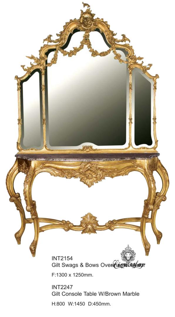 Spiegelkommode Barock Mahagoni Holz Sk.153