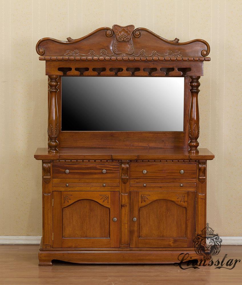 Spiegelkommode Barock Mahagoni Holz Sk.239