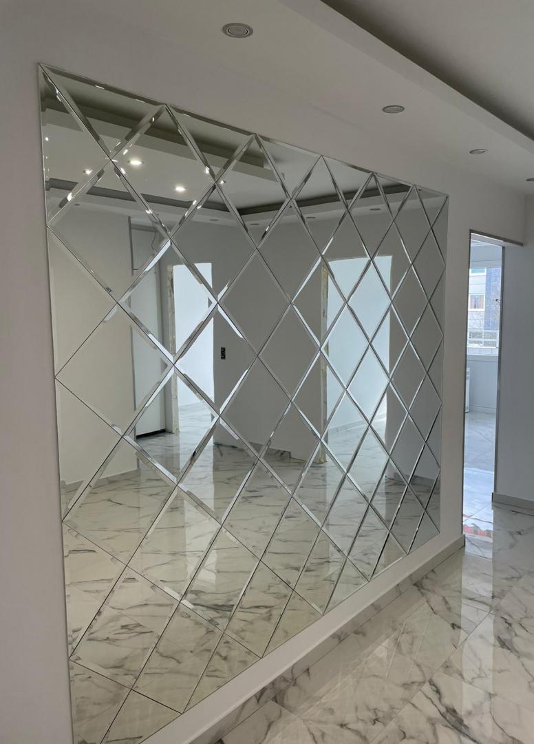 Designer Spiegelfliesen facettiert Wandfliesen 3,2 qm