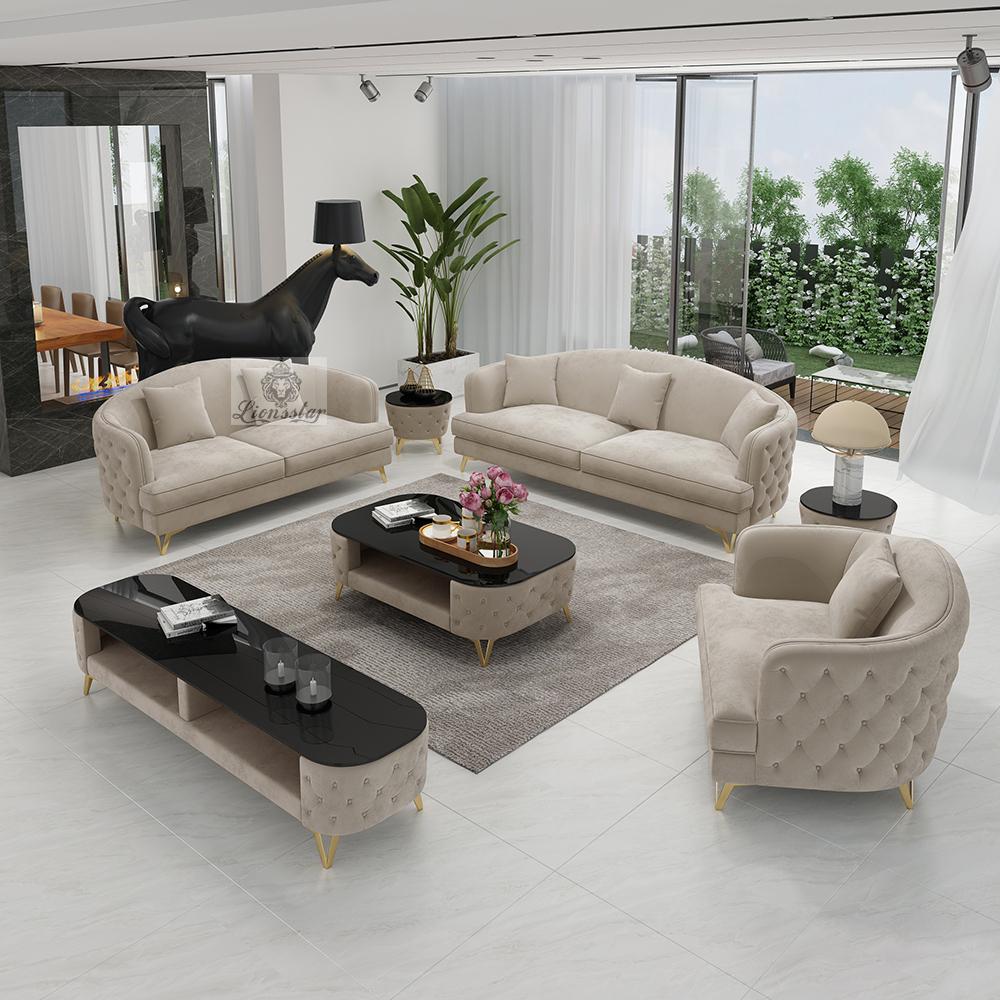 Elegantes Design Sofa-Set Aura  V-Leg