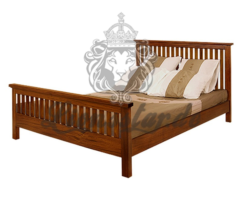 Empire Bett Antik Teak