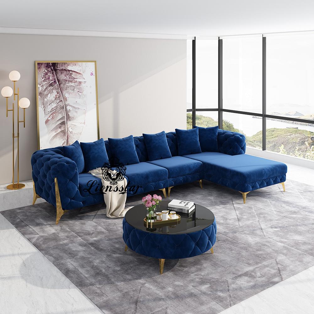 Designer Luxus Wohnlandschaft Clouds High Leg L Form