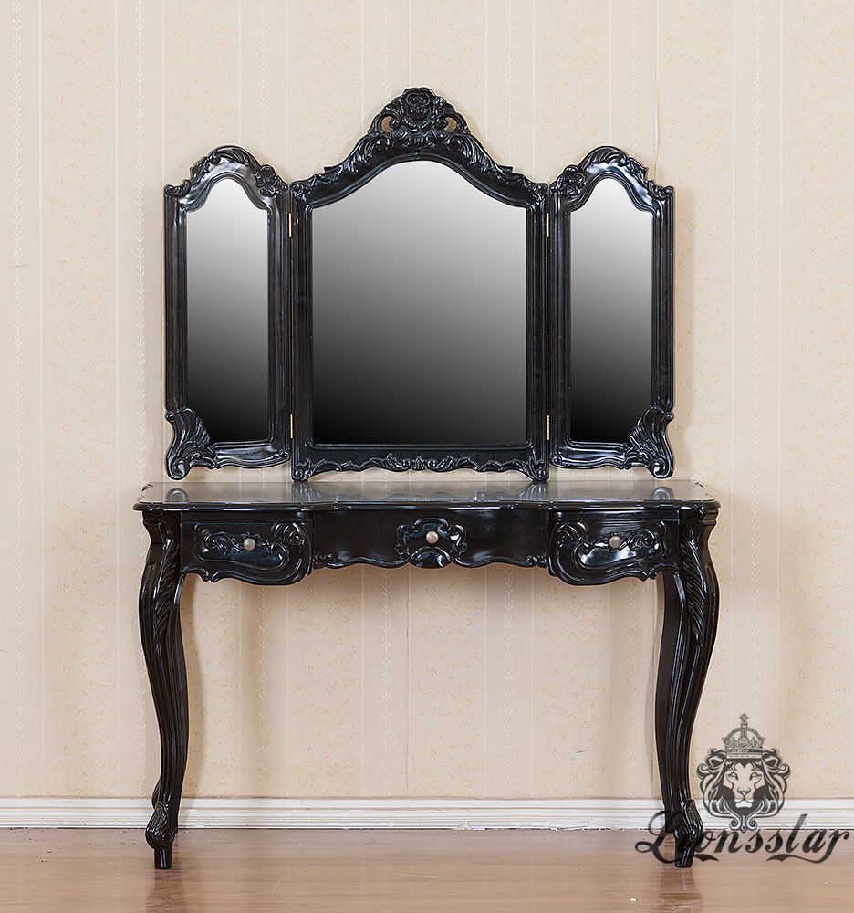 Spiegelkommode Barock Mahagoni Holz Sk.220