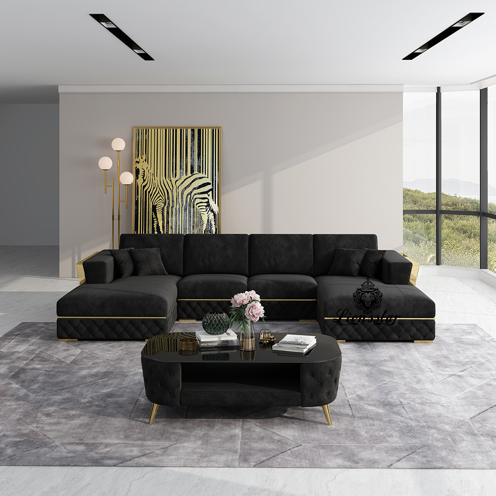 Designer Sofa Loft Style U Form Small