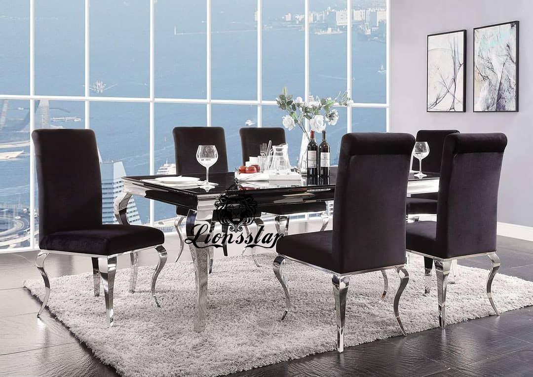 Luxus Designer Esstisch Set Classic