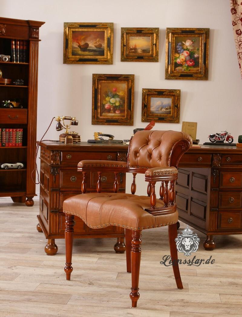 Bürostuhl aus Mahagoniholz