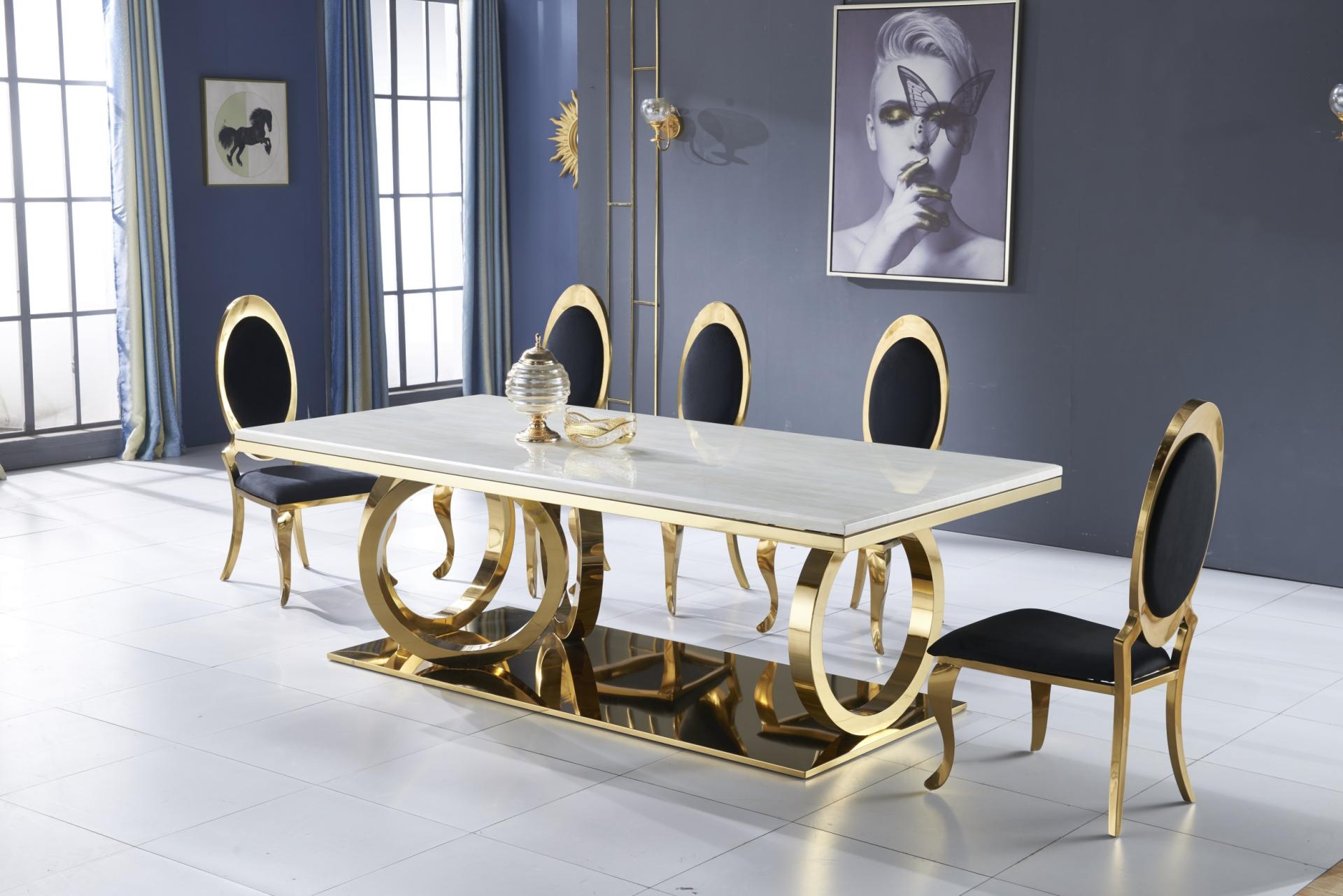 Designer Esstisch Rings Gold