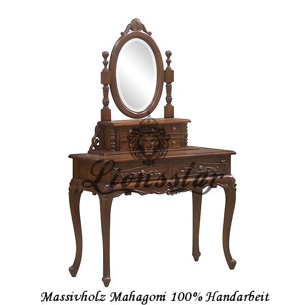 Barockspiegelkonsole Mahagoni