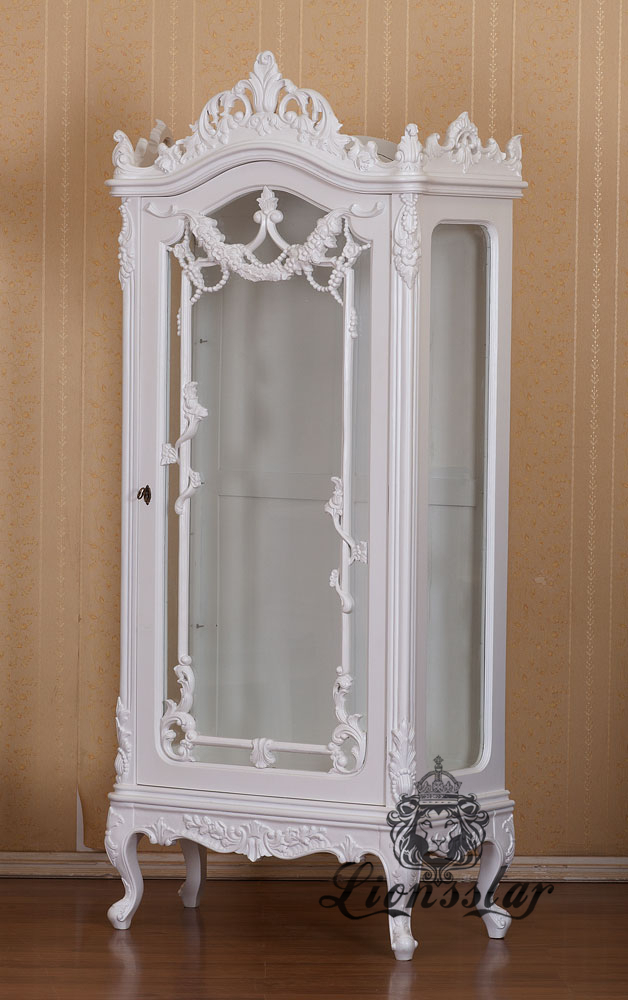 Barockstil Vitrine White Dream