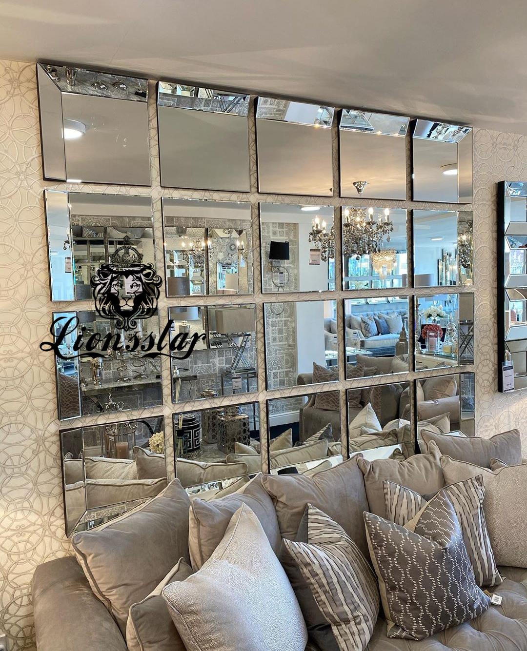 Designer Spiegelelemente Spiegelwand