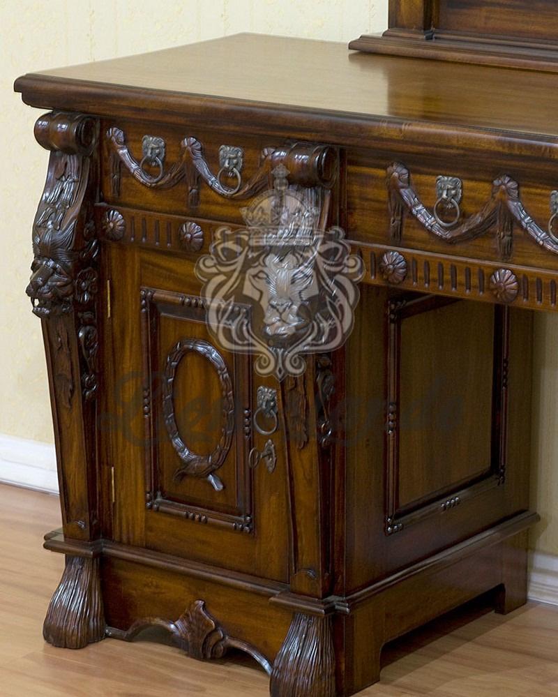 Spiegelkommode Barock Mahagoni Holz Sk.284