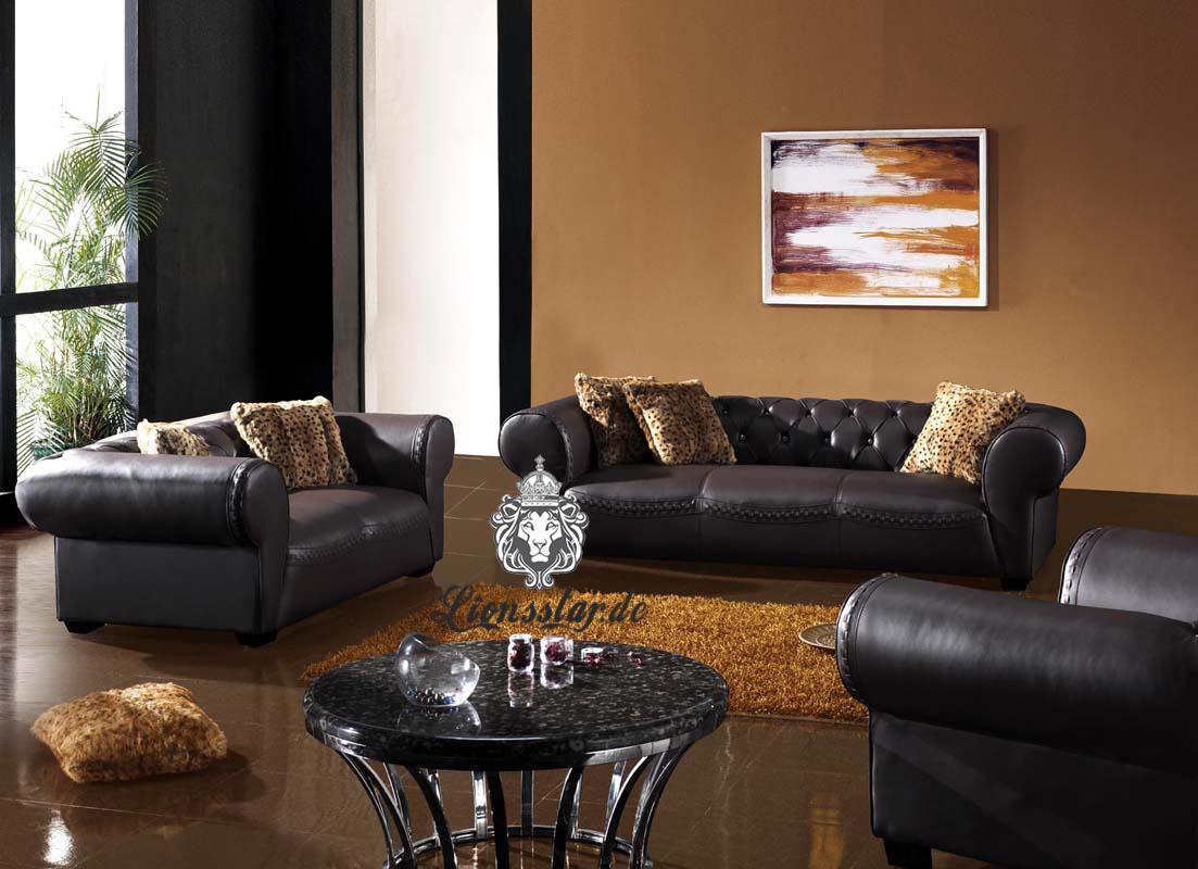 Sofa Set Dunkelbraun