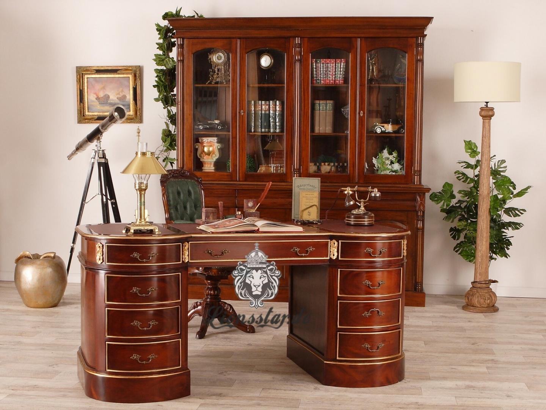 Schreibtisch Oval Massivholz