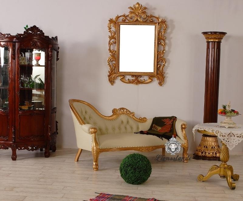 Recamiere Gold-Creme Rococostil