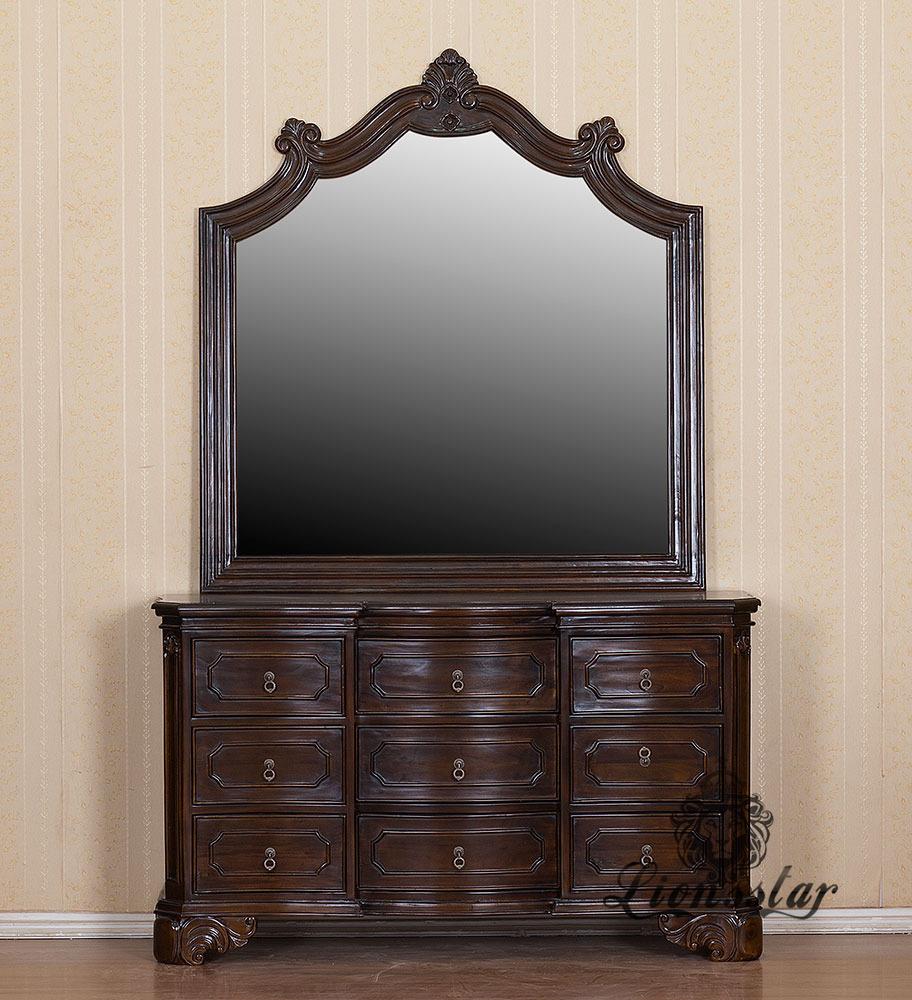 Spiegelkommode Barock Mahagoni Holz Sk.168