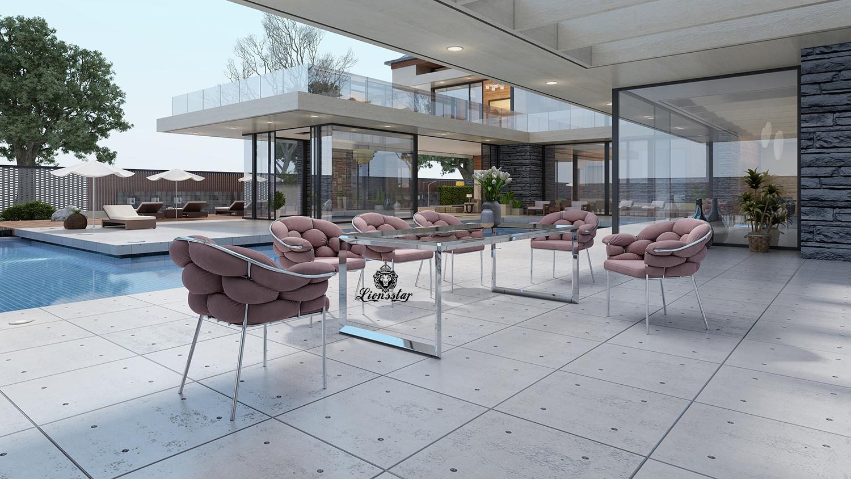 Luxus Designer Esstisch Set Miami Beach