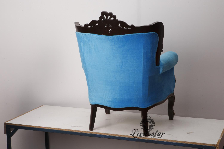 Thronstuhl Barock Blau
