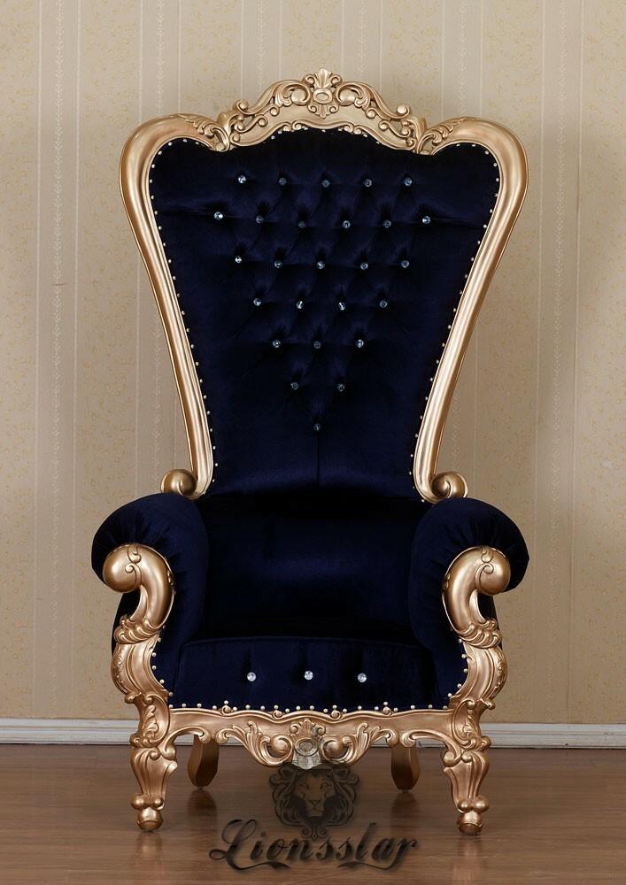 King Chair Schwarz Gold