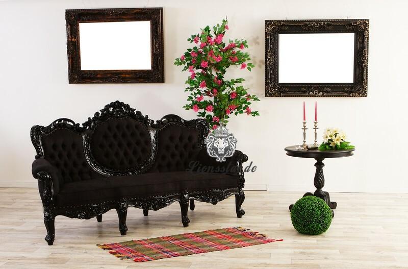 Barocksofa Luxus Schwarz
