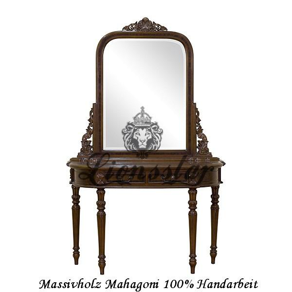 Spiegelkommode Barock Mahagoni Holz Sk.142