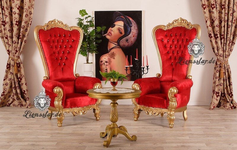 King Chair Gold Rot
