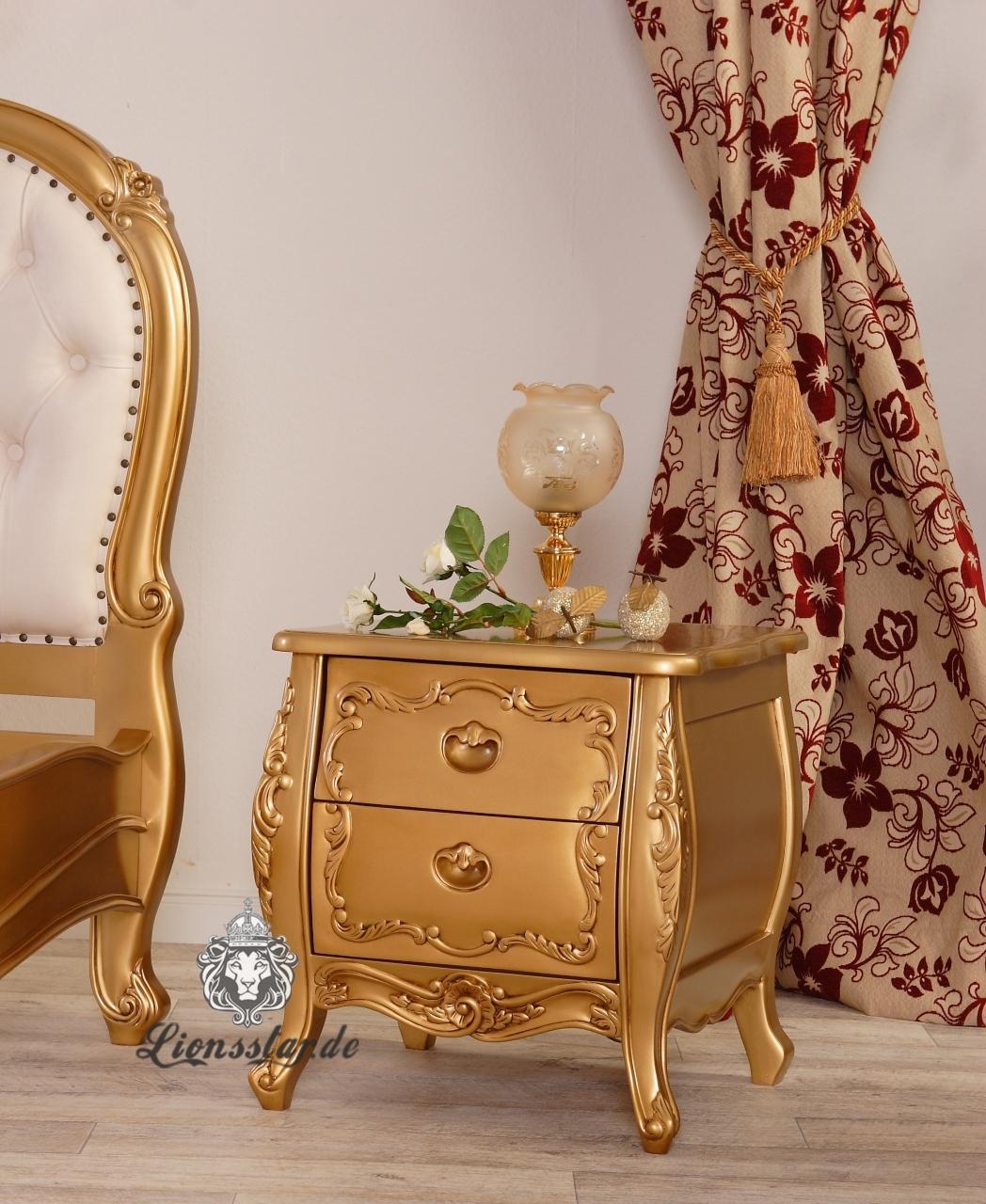 Nachttisch Gold