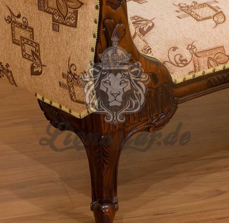 Recamiere Barock Mahagoni Holz R.250