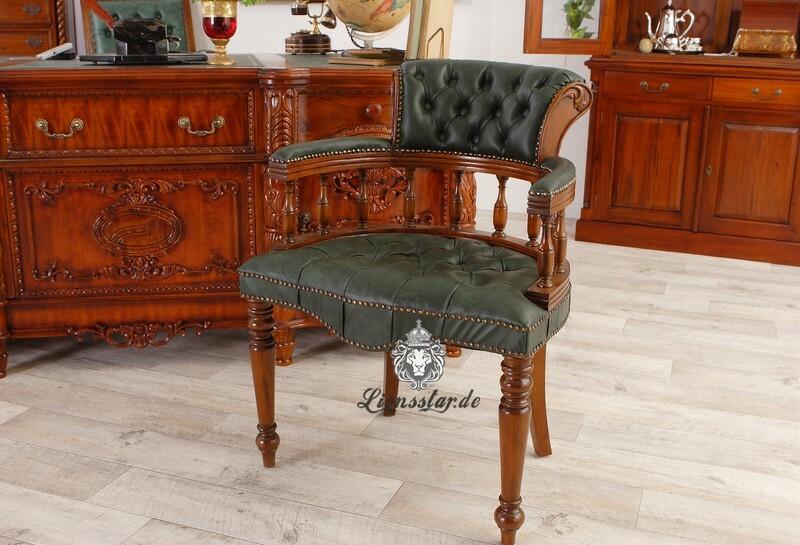 Schreibtischstuhl Leder