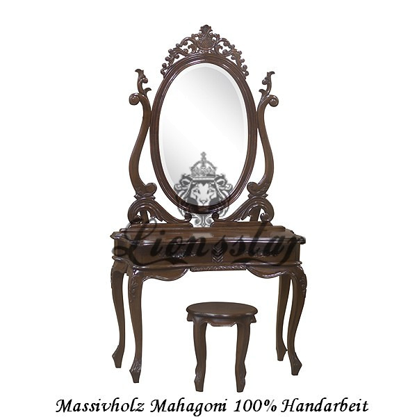 Spiegelkommode Barock Mahagoni Holz Sk.123