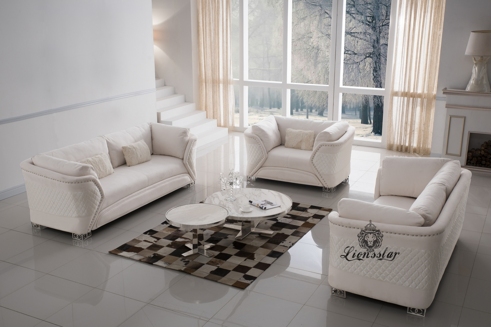 Luxuriöse Designersofa 3er Set