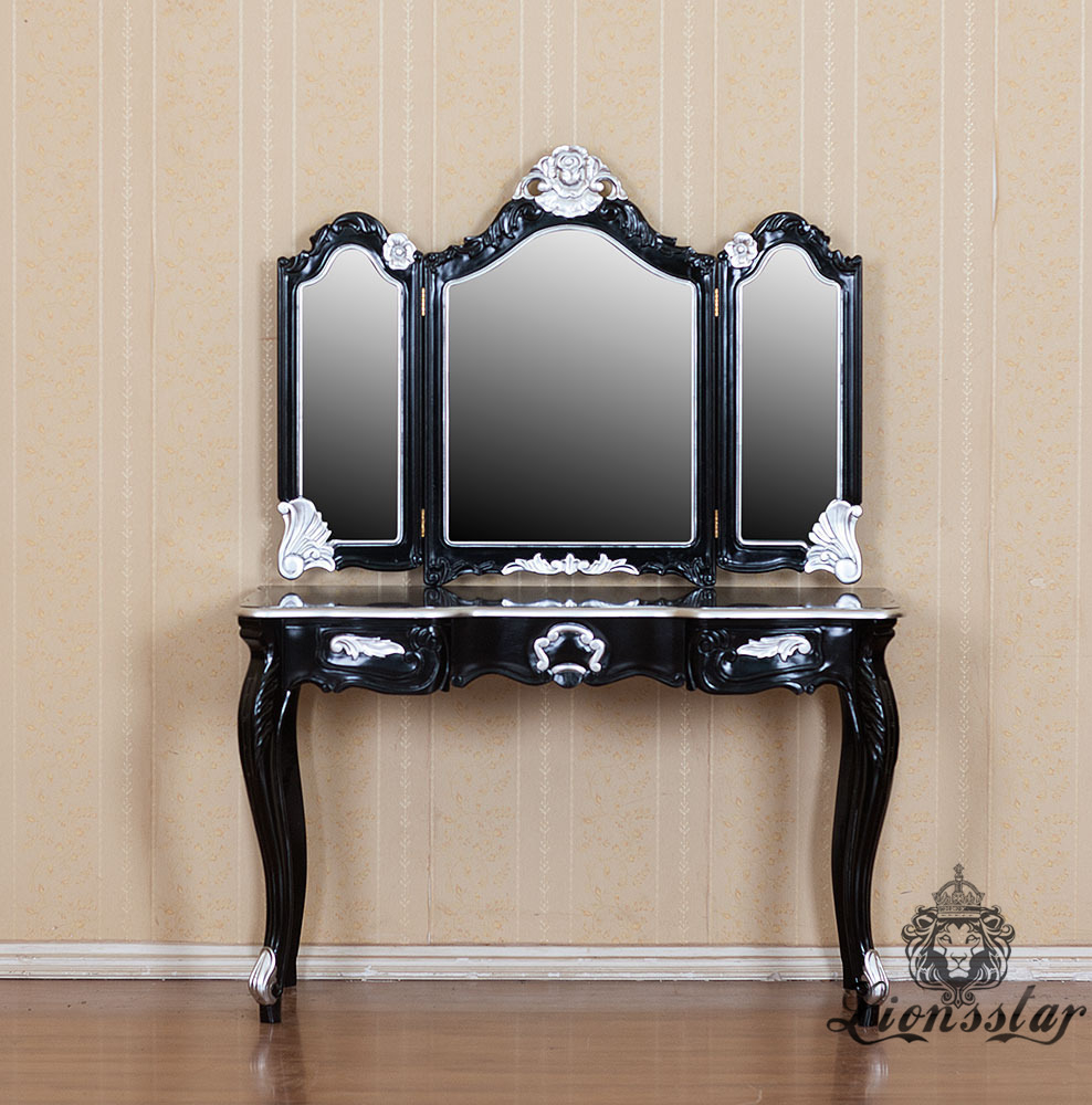 Spiegelkommode Barock Mahagoni Holz Sk.227
