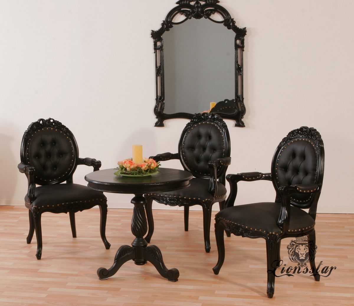 st hle mahagoniholz lionsstar gmbh. Black Bedroom Furniture Sets. Home Design Ideas