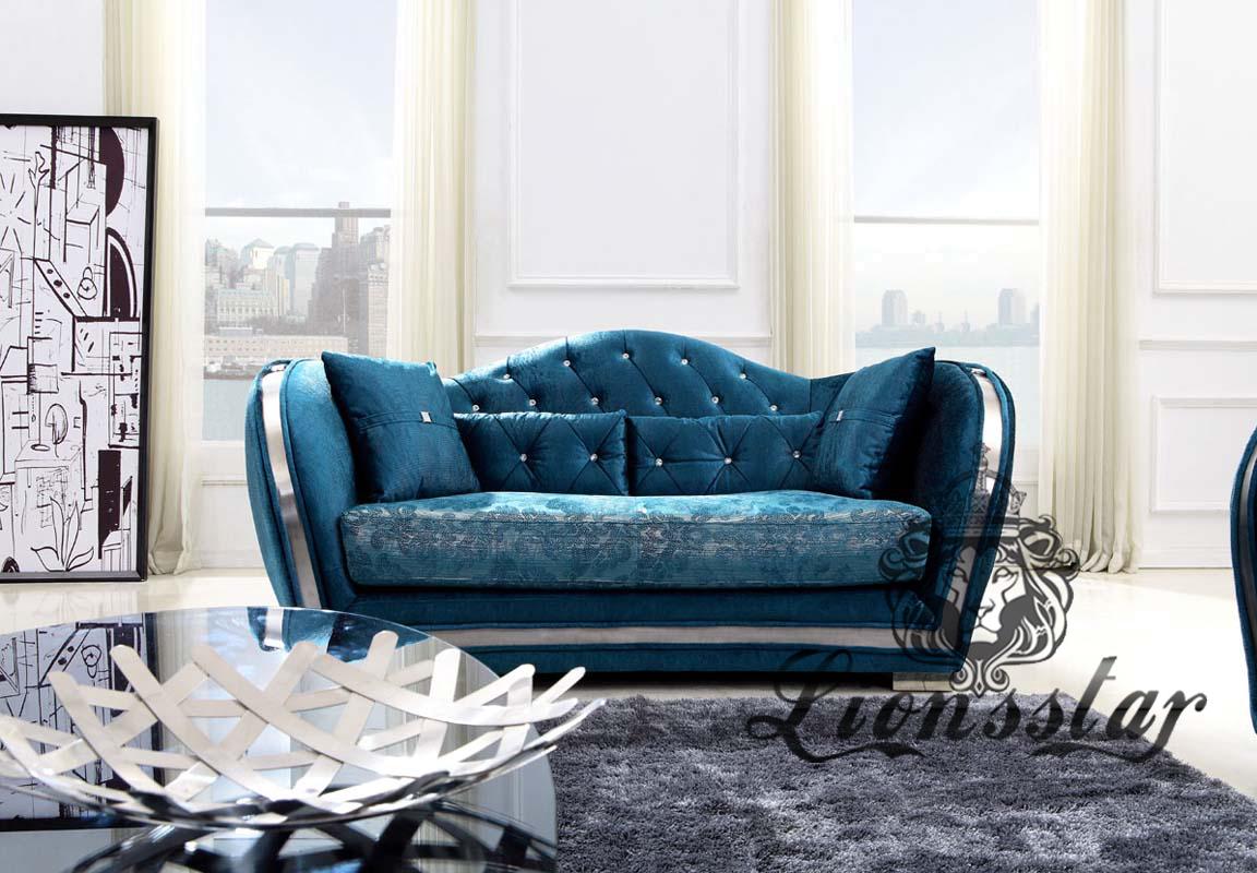 Designer Sofa Blau