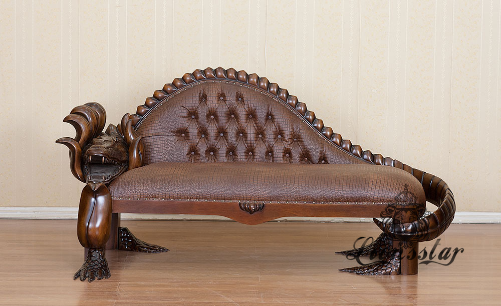 Recamiere Barock Mahagoni Holz R.218