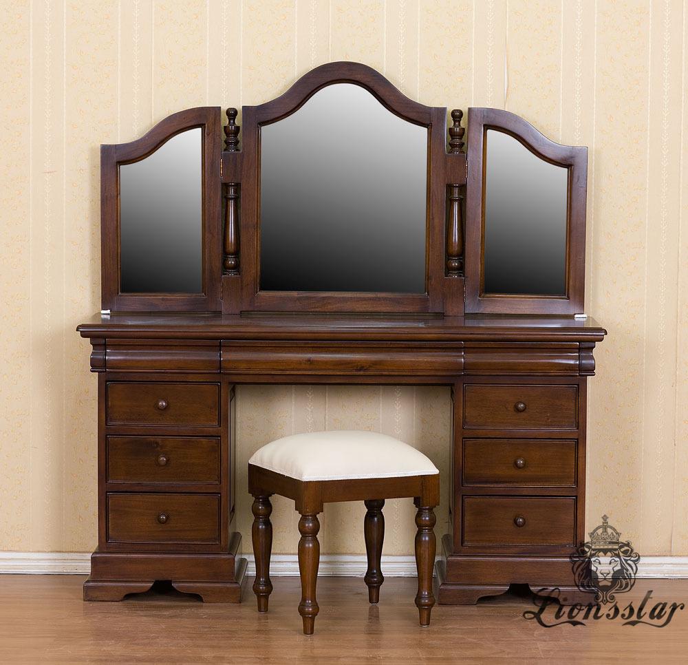 Spiegelkommode Barock Mahagoni Holz Sk.103