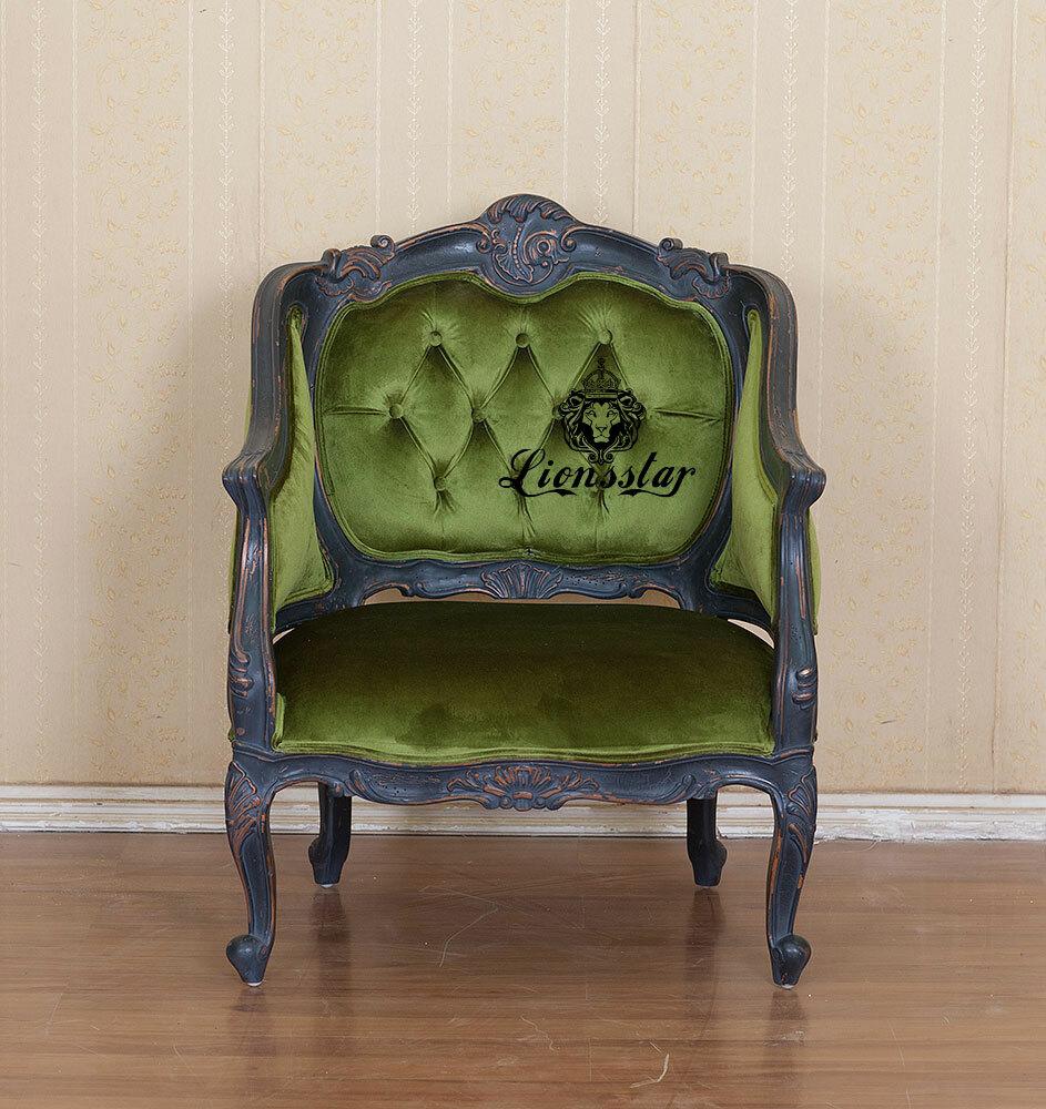 Luxus Sessel Shabby Stil Velvet