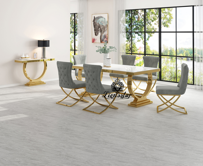 Designer Esstisch Set Loft Design Swing