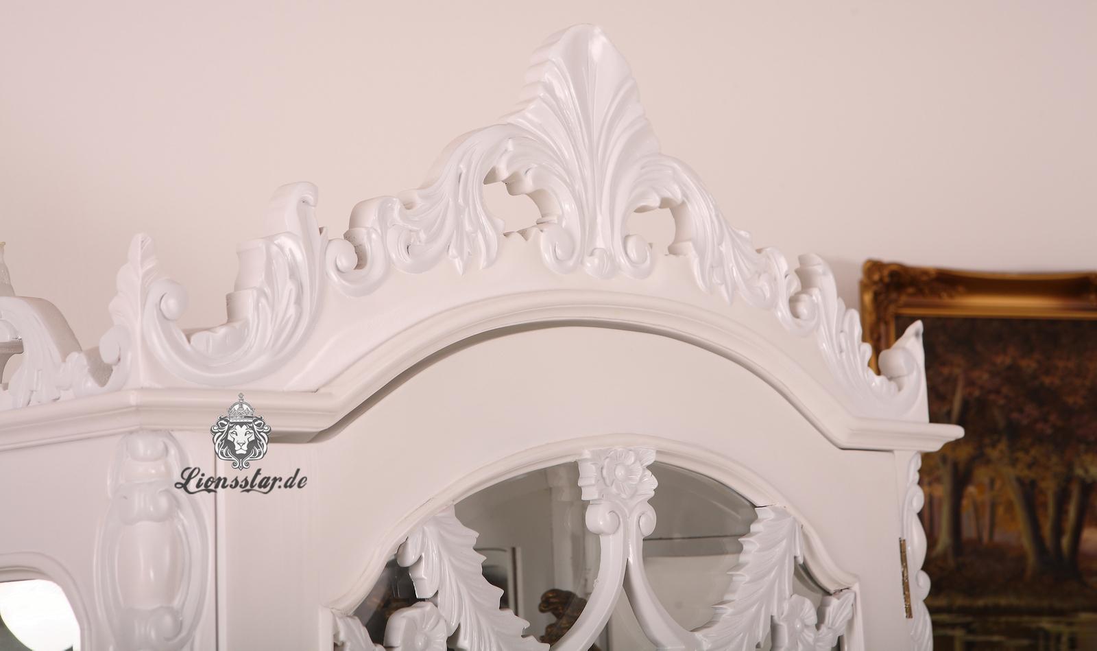 Luxus Vitrine Rokoko Weiß
