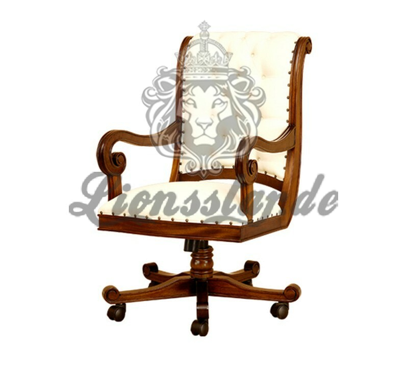 Bürostuhl Chefsessel Weiß