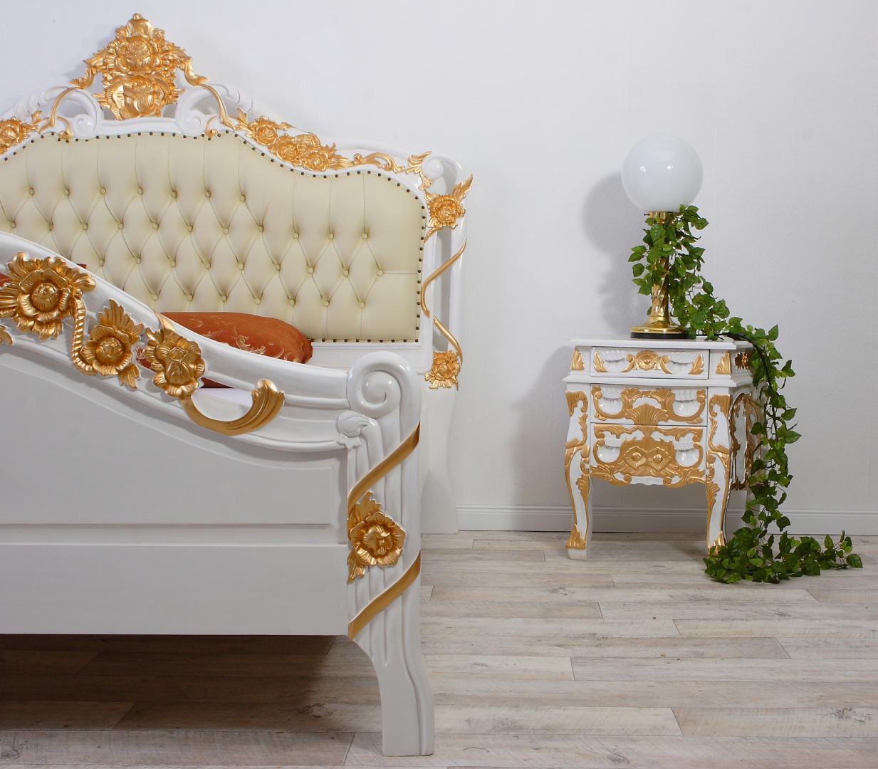 Louis Bett Weiß Gold