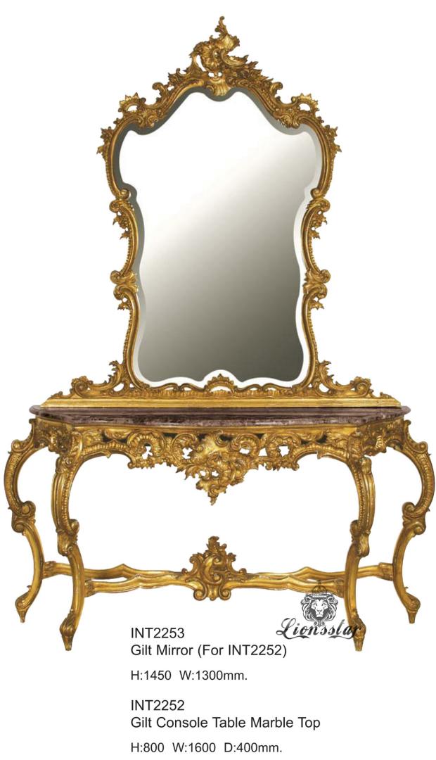 Spiegelkommode Barock Mahagoni Holz Sk.158