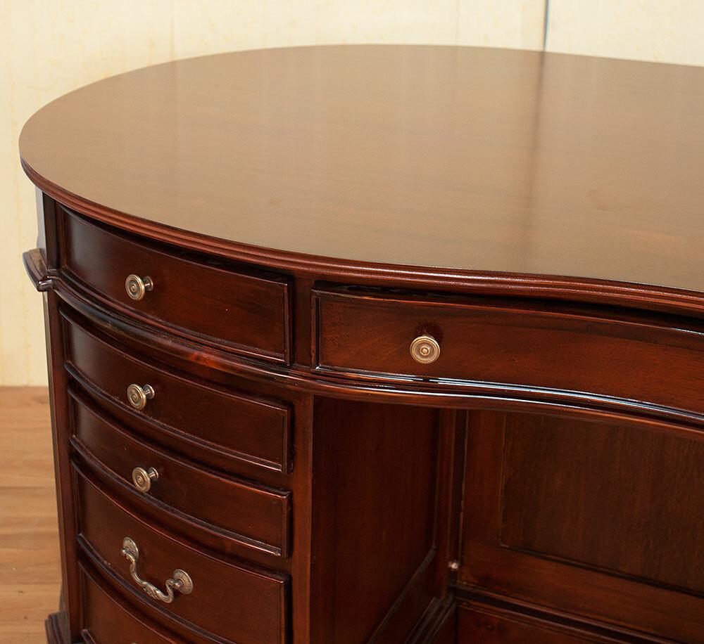 Kolonialstil Schreibtisch Oval