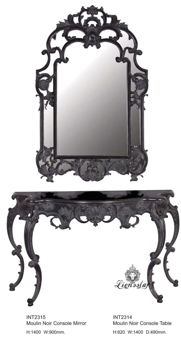 Spiegelkommode Barock Mahagoni Holz Sk.155
