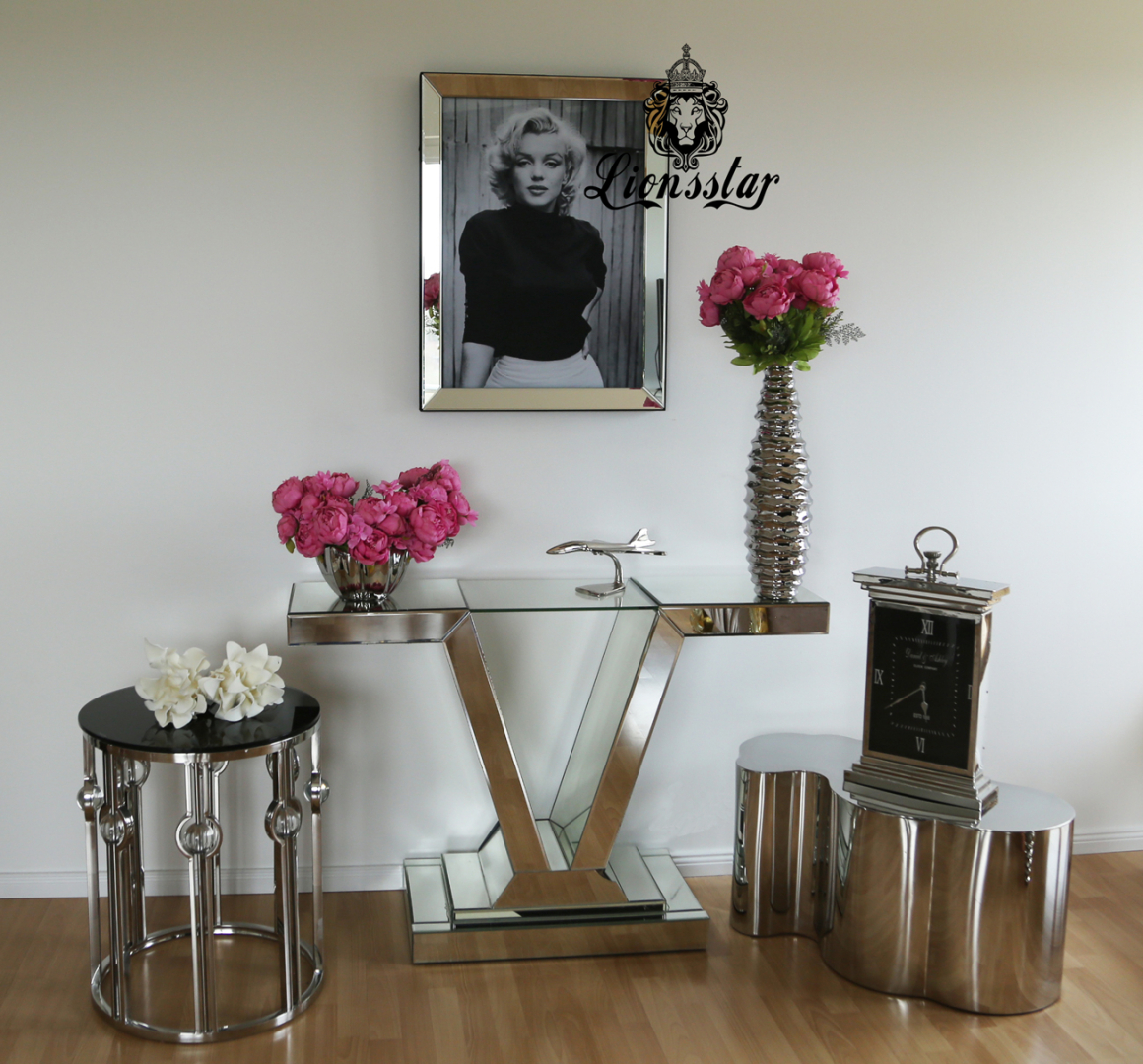Bilderrahmen Marilyn Black and White Glas Facettiert