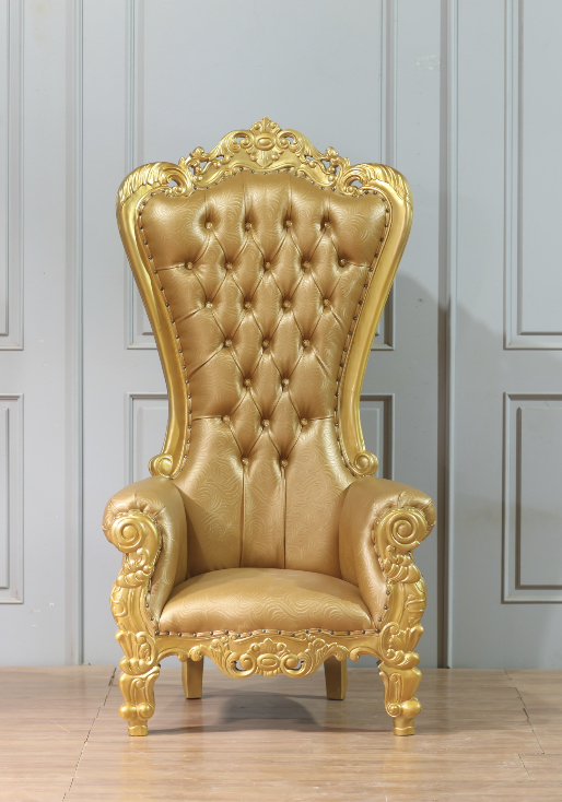 King Chair Luxus Gold Flower