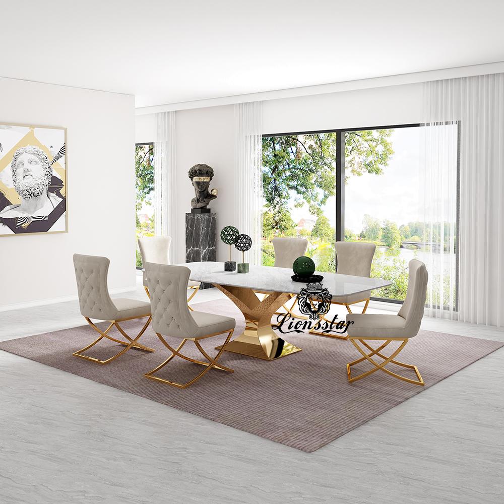 Luxus Designer Esstisch Set New York