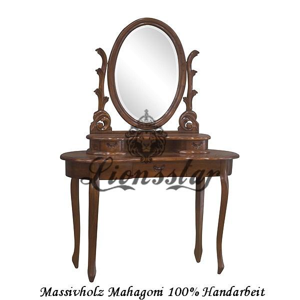 Spiegelkommode Barock Mahagoni Holz Sk.121